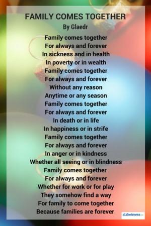 Poem: Family Comes Together