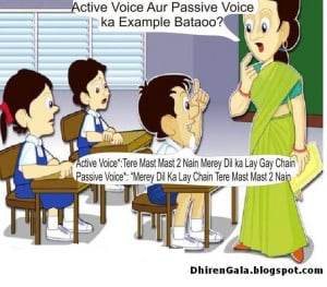 Funny Classroom - Active Voice and Passive Voice Difference