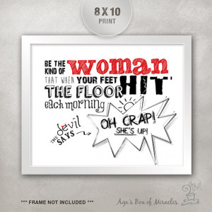 Dorm Room Decor / Funny Quote for Women / Inspirational Quote ...