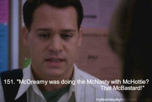 George to Meredith: McDreamy was doing the McNasty with McHottie. That ...