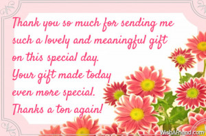 Thank You Quotes For Friends For Birthday Gifts ~ Birthday Thank You ...