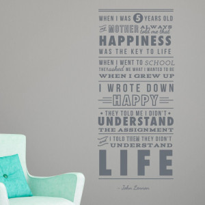 Home John Lennon Happiness Quote