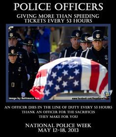 Thank a Police Officer! riversid polic, law enforc, polic wife, cop ...