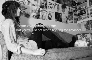 Girl, quotes and sad pictures