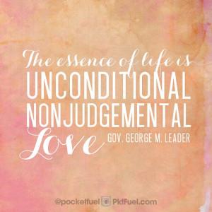 non judgemental love