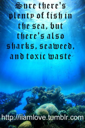 ... of fish in the sea, but there's also sharks, seaweed and toxic waste