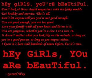 Hey girls, you're beautiful. by XxZombieUnicornxX