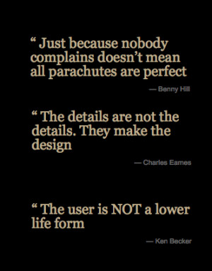 szymon:Learn from their wisdom: user experience quotes