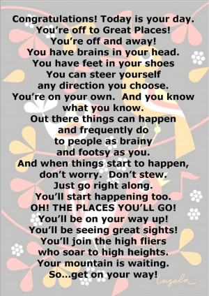 Oh the Places You'll Go. I had to pin this after my teacher read this ...