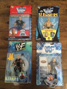 ÃÂ NIP Lot of 4 1998 Stone Cold Steve Austin Action Figures by Jakks ...