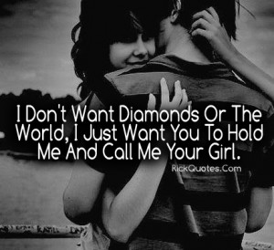 Love Quotes | Call Me Your Girl Couple Love hug Fun Kiss Together