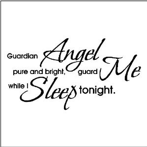 guardian angel wall quotes words sayings lettering decals black $ 11 ...