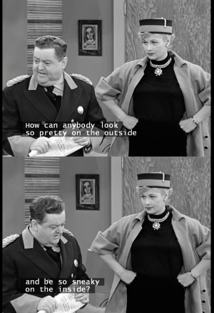 Lucy And Ethel Quotes About Friendship Change in lucy's face when