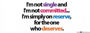 Am Not Single Facebook Cover