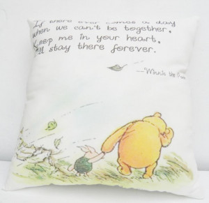 Winnie the Pooh & Piglet Medium Quote Pillow for Nursery Baptism ...