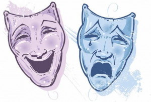 Image: Chris King - Theatre Masks Happy And Sad, Laugh And C