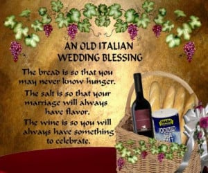 An old Italian Wedding Blessing