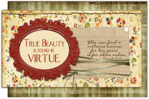 Tile Crafts for Young Women-Virtue Quotes