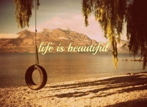 beauty quotes beauty quotes life beautiful lake tire swing beach sand