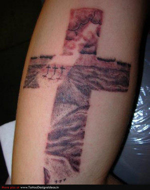 Cross Tattoos for Women On Back
