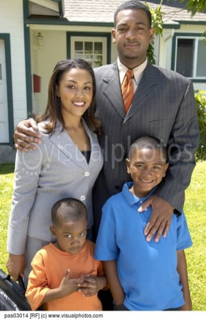 African Family Smiling Pas