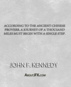 According to the ancient Chinese proverb, A journey of a thousand ...