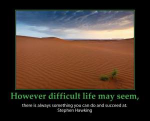 stephen Hawking adversity quote