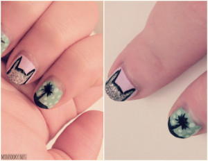 These are the easter cross nail design nails Pictures