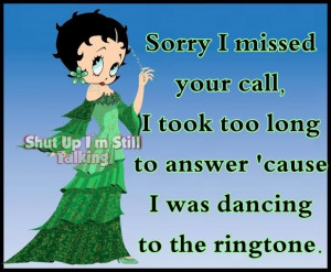Betty Boop dance quote