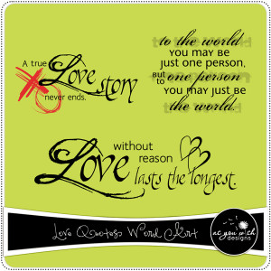 Love Quotes For Scrapbooking Love Quotes Word Art