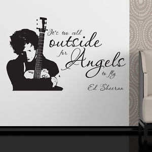 ... Sheeran-wall-sticker-its-too-cold-outside-decal-music-lyric-quote-es4