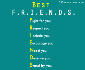 ... Friends Fight For You, Respect You, Stand By You - Friendship Quote