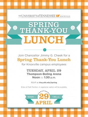 RSVP Now for Chancellor's Thank-You Lunch for Campus Employees