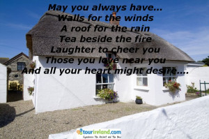 An Irish blessing for a new home....