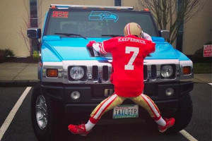 Seahawks Fan with Hummer Returns, This Time 'Running Over' Colin ...
