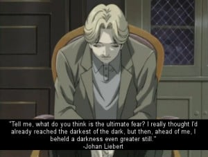 Johan Monster Anime Quotes. QuotesGram