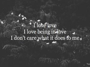 black, love, text, typography, white