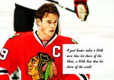 ... share of the blame. hockey quotes, jonathan toews, chicago blackhawks