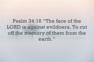 Top 7 Bible Verses About Evil or Evil Doers
