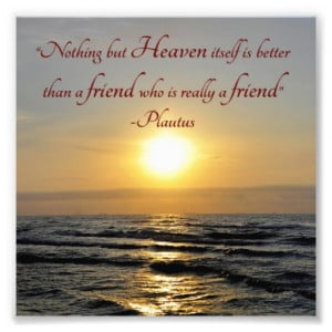 Sunset Over Ocean Friendship Quote Square Photo