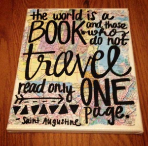 Travel Map Quote Canvas Painting Saint Augustine by kalligraphy, $25 ...