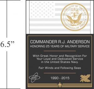 Military Retirement Plaque Wording
