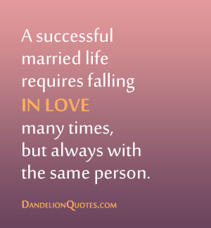 requires falling in love many times but always with the same person