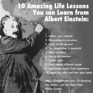 Learning 10 Life Lessons from Albert Einstein