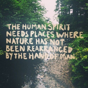 The Human spirit in nature.