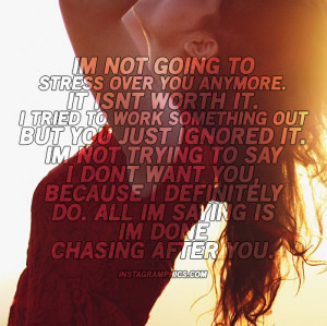 Im Not Going To Stress Over You Quote Graphic