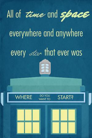 Simon Alenius › Portfolio › TARDIS Doctor Who Quote