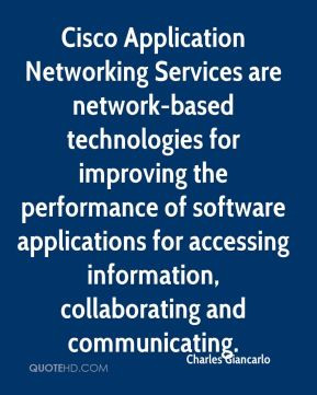 Charles Giancarlo - Cisco Application Networking Services are network ...