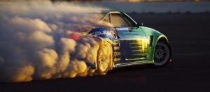 Heavy drifting car Facebook cover