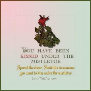 Kissing under the mistletoe.... Still In or Out?